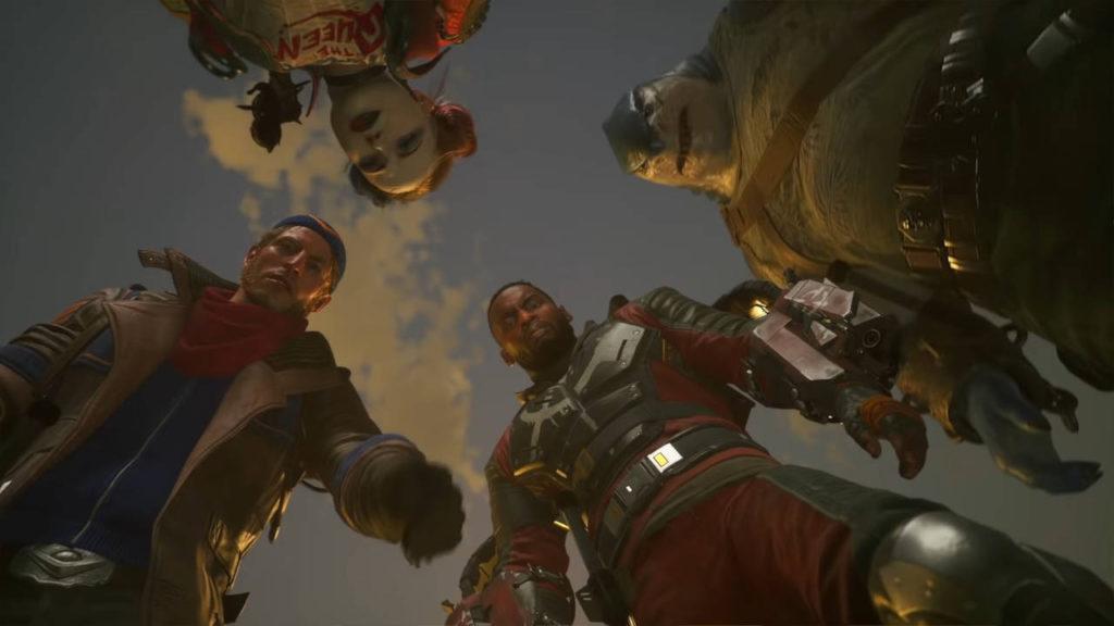 The Suicide Squad: Kill the Justice League - bohaterowie patrzą w dół