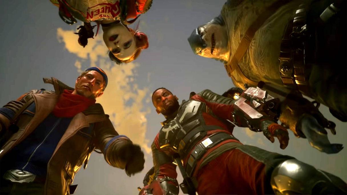 Suicide Squad Kill the Justice League - bohaterowie patrzą w dół