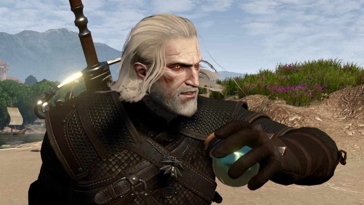 Wiedźmin 3 Dziki Gon - mod Ard Bombs - Geralt zaraz rzuci bombą PG