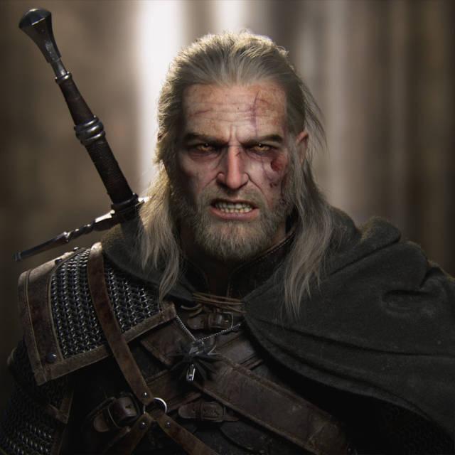 Wiedźmin 3 Dziki Gon - next-generacyjny Geralt z wkurzoną miną- PG