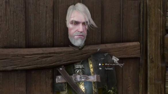 Wiedźmin 3 Dziki Gon - Unsutck mod - Geralt utknął w drzwiach