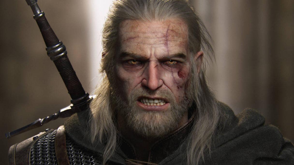 Wiedźmin 3 Dziki Gon - wkurzony Geralt (render 3D) - PG