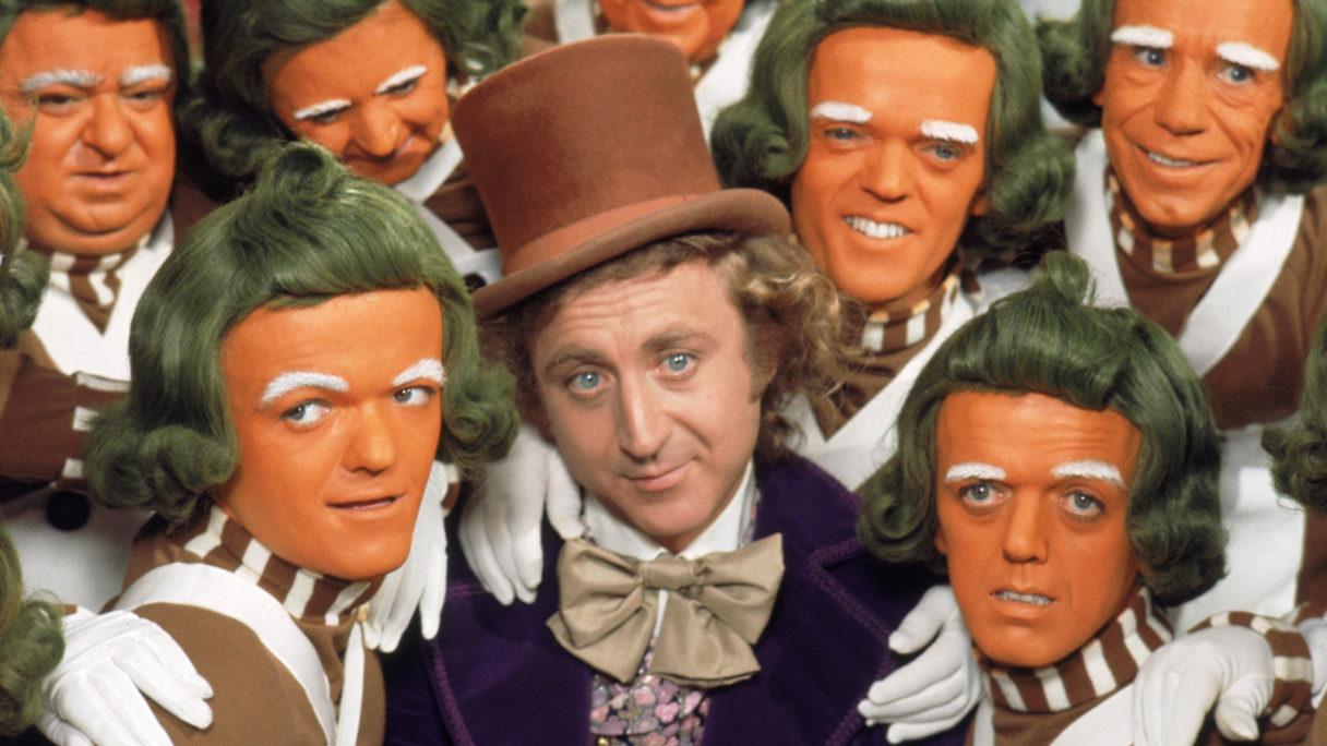 kadr z filmu Willy Wonka i Fabryka czekolady